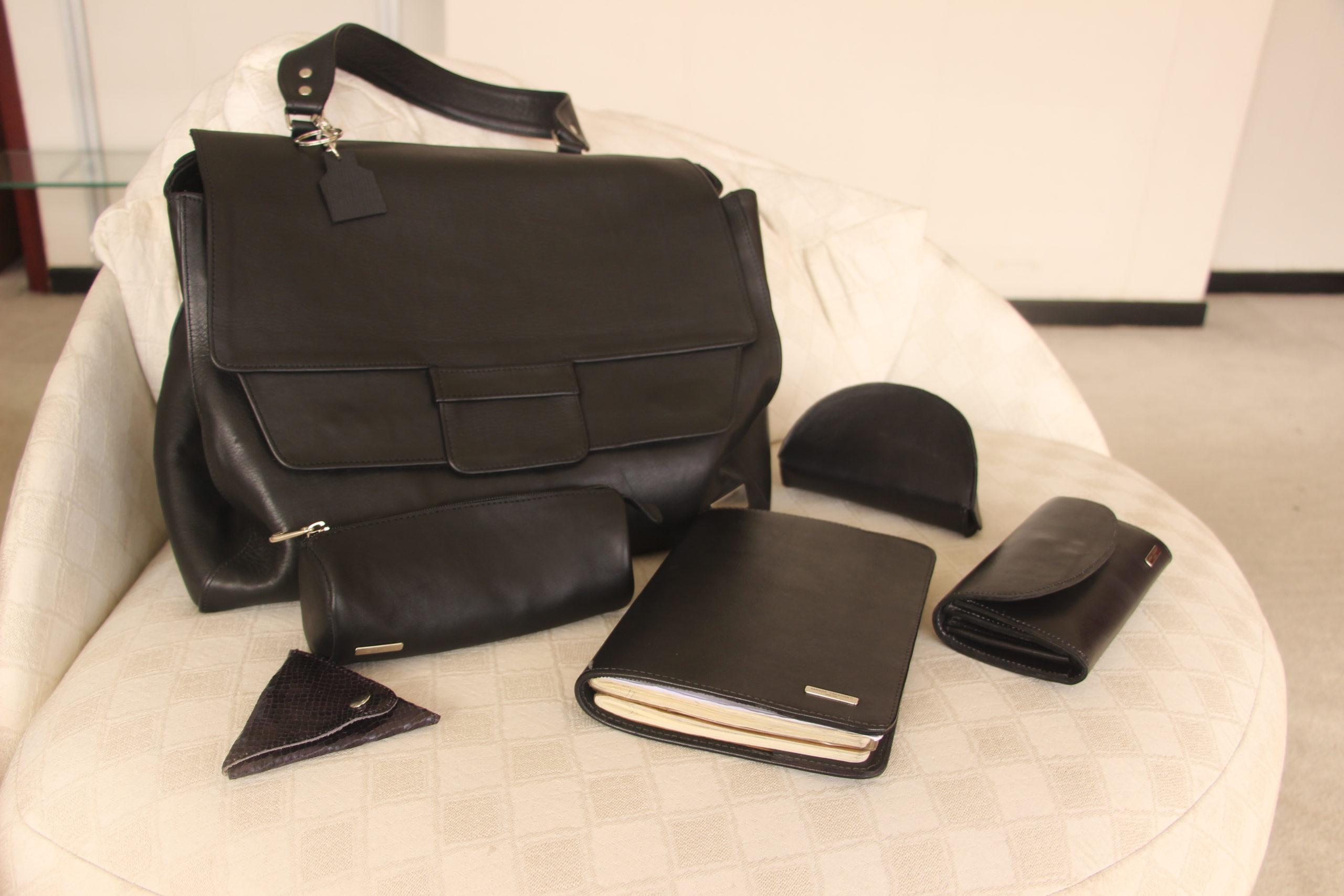 Mon sac de travail et accessoires assortis par Sanaga Creation
