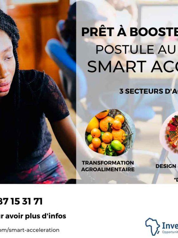 SMART ACCELERATION : Entrepreneurs boostez votre développement en postulant jusqu'au 20 juin 2020